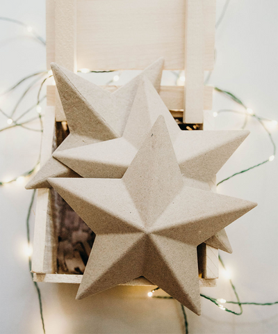 7 in Paper Mâché Star