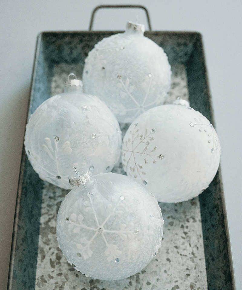 Hand Painted Frosted Ornaments