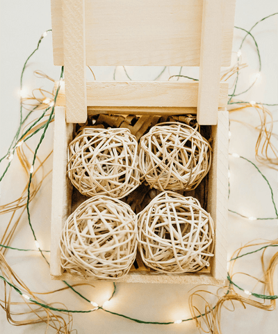 3 in Decorative Rattan Bauble