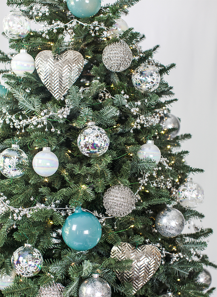 Light Blue Christmas Ornaments