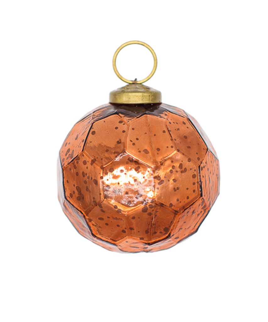 2.5 in Mercury Orange Hexagon Bauble