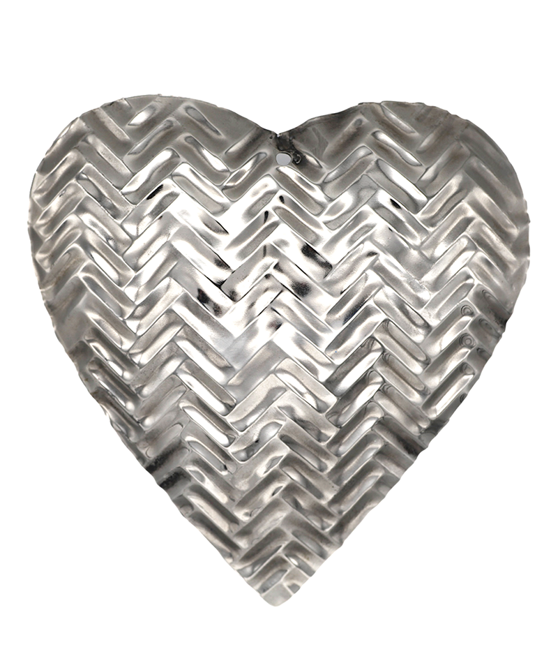 Metal Heart Christmas Ornament