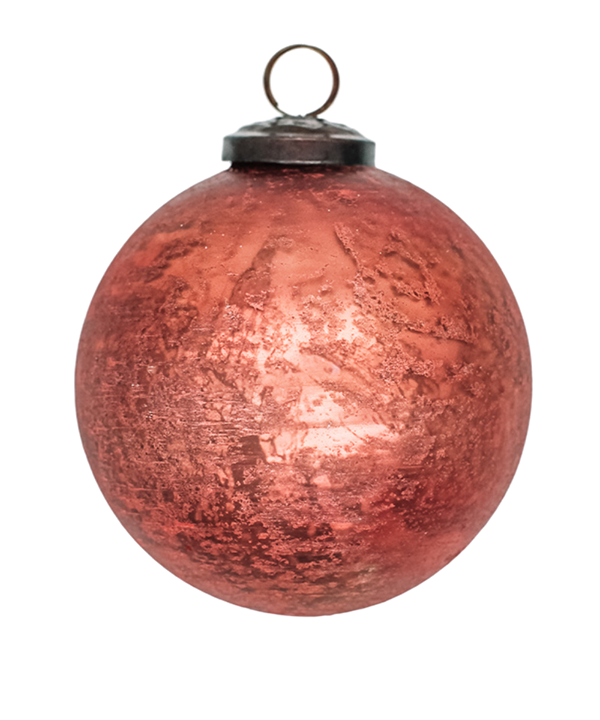 Copper Orange Ornaments