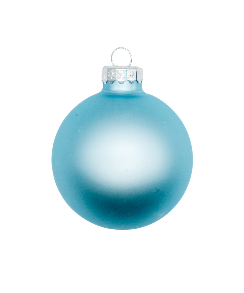 2.5 in Blue Matte Ornament