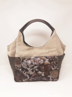Floral L Taupe/Canvas