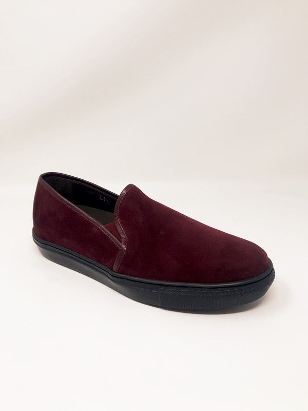James Suede Bordeaux