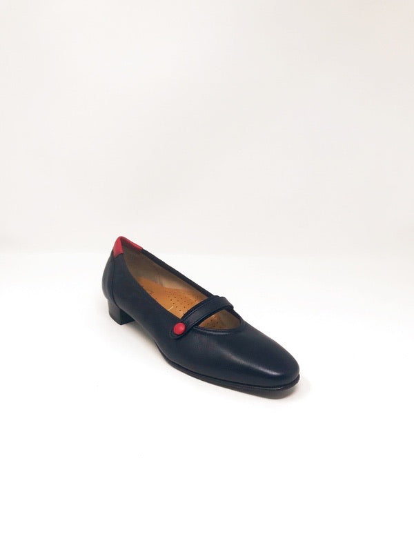 Celia Leather Navy