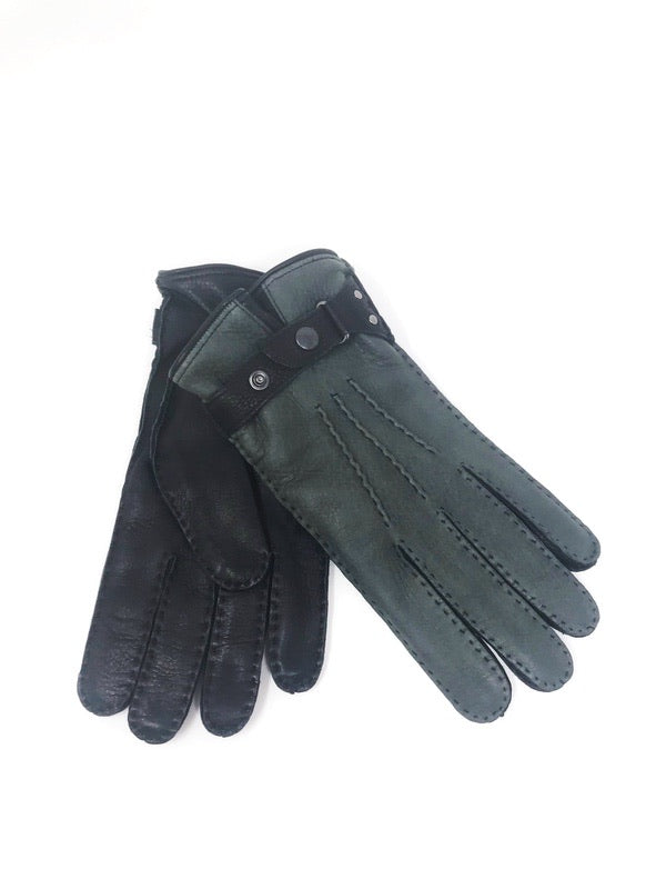 Hamilton Gloves Leather Grey/Black