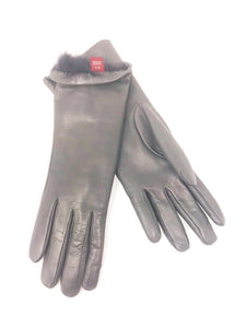Rachel Gloves Leather Grey