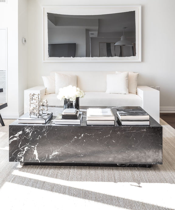 Monolithic Marble Coffee Table