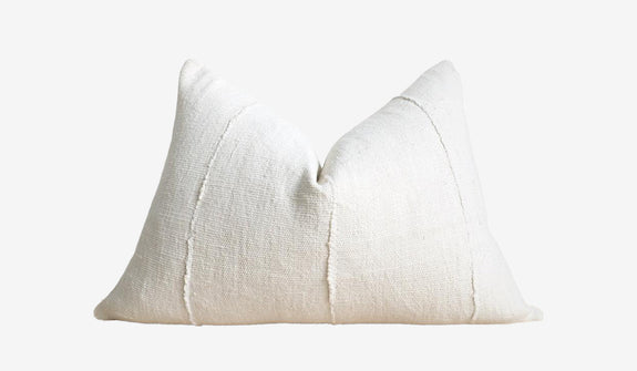 Easton Mudcloth Pillow White