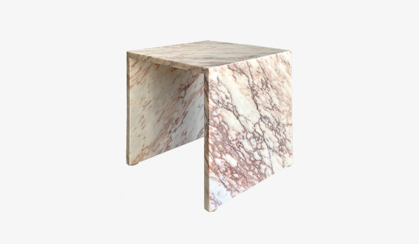 Isolation Marble Table White Marble