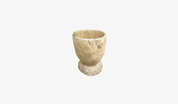 Primitive Wooden Mortar