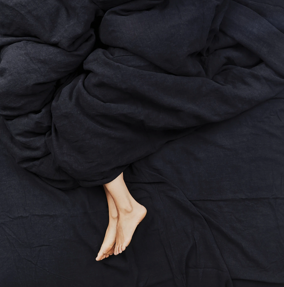 Black Linen Bedding