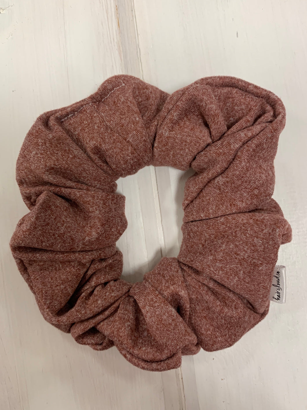 Rose Knit Scrunchie