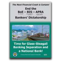 Time for Glass-Steagall Banking Separation and a National Bank