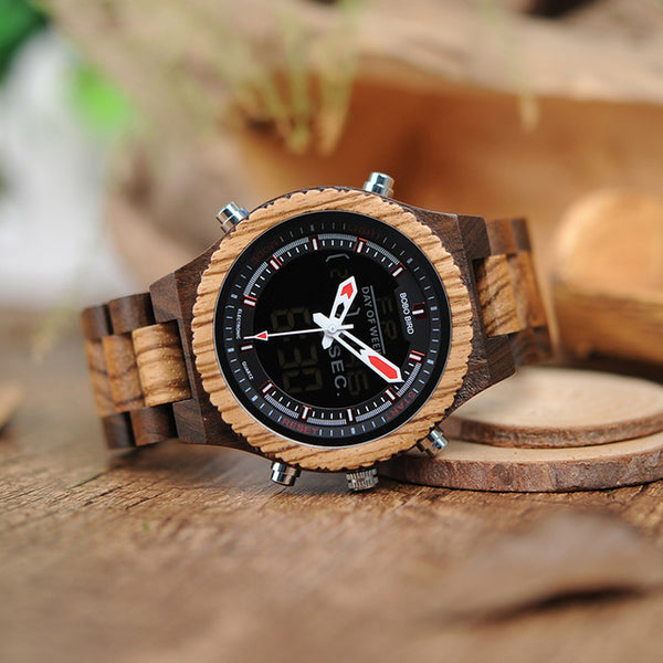 Bamboo Digital Watch