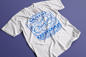 MD Original Design Blue Logo T-shirt