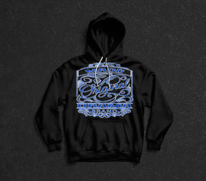 MD Original Design Hoodie Blue Logo