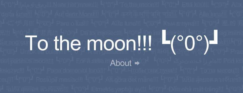 To the moon!!! ┗(°0°)┛