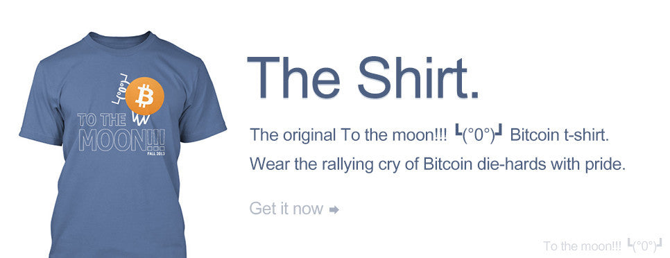 To the moon!!! ┗(°0°)┛ Bitcoin t-shirt