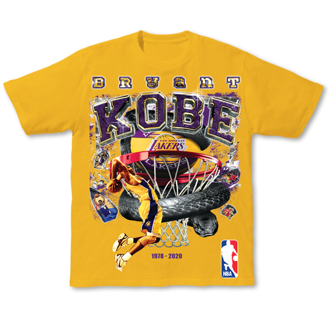 Kobe Bryant Tribute Tee Yellow