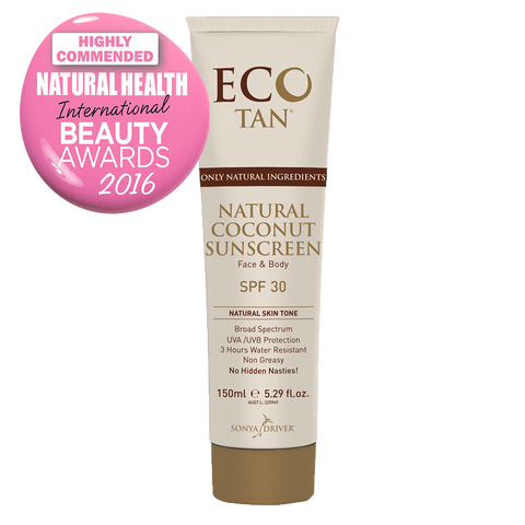 Eco Tan Natural Coconut Sunscreen - tinted (150ml)