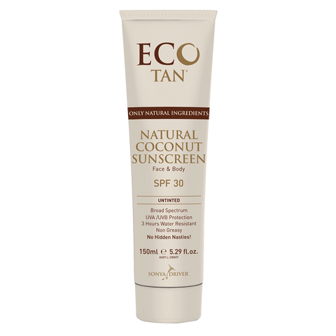 Eco Tan Natural Coconut Sunscreen - untinted (150ml)