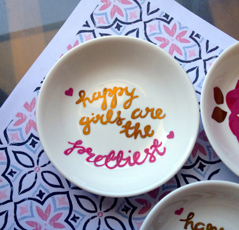 Mask Mixing Bowl - 'Happy Girls'