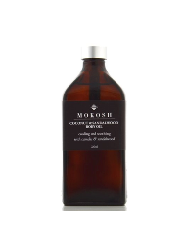 Mokosh Coconut & Sandalwood Cooling Body Oil (200ml)