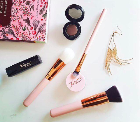 Luxe Rose Gold Blush Brush