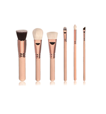 Luxe Rose Gold Brush Set (6 brushes)