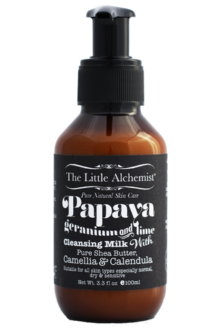 The Little Alchemist Papaya, Geranium & Lime Cleansing Milk (100ml)