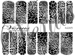 #6003 Animal Print (Clear/White)