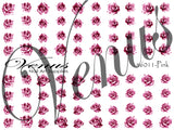 #6011-Pink Rose Tattoo (Clear)