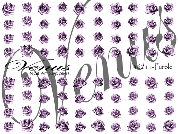 #6011-Purple Rose Tattoo (Clear)