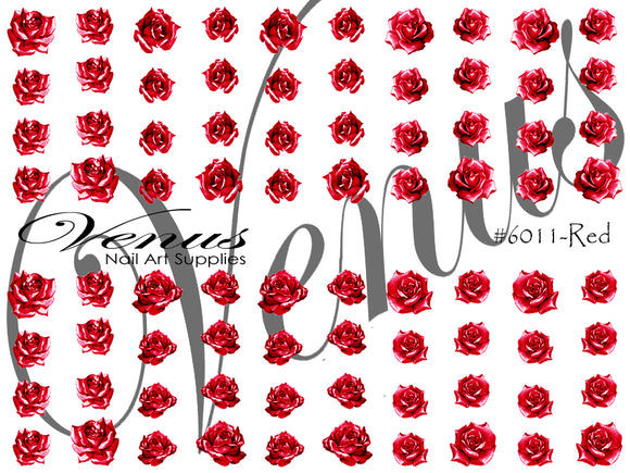#6011-Red Rose Tattoo (Clear)