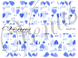 #6014c Sweetheart - Blue (Clear/White)