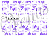 #6014d Sweetheart - Purple (Clear/White)