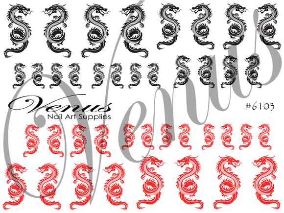 #6103 Dragons Black + Red (Clear)