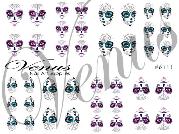 #6111 Sugar Skull Gals (Clear)