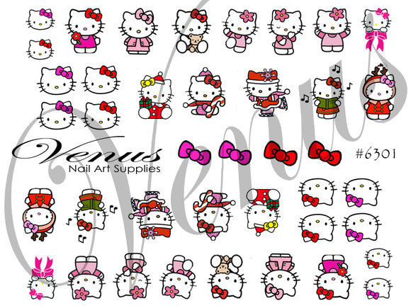#6301 Hello Kitty + Xmas (Clear)