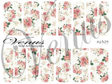 #6305 Floral - Pink/White Roses (Clear/White)