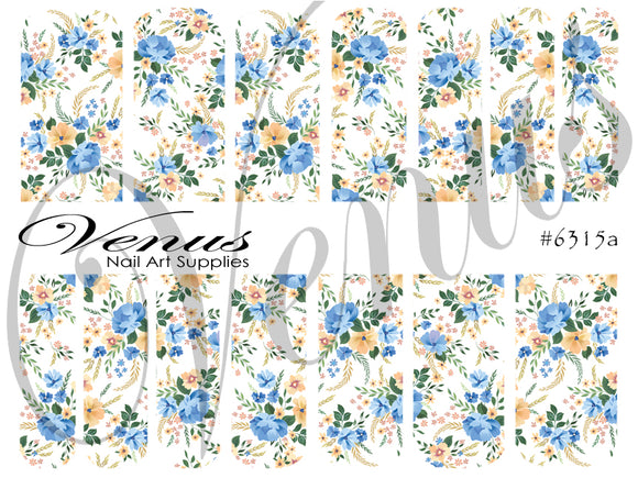 #6315a Country Garden (Clear/White)