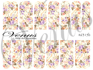 #6315b Country Garden (Clear/White)