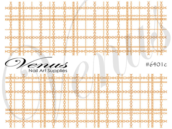 #6401c Chains - Gold Plaid FULL IMAGE (Clear)