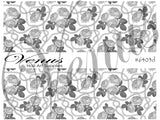 #6403d Chains - Silver Roses FULL IMAGE (Clear)