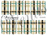 #6404 Plaid Chains SET OF 6 (Clear/White)