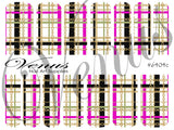 #6404c Plaid Chains - Pink/Gold (Clear/White)