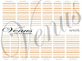 #6405b Chains - Gold B (Clear/White)